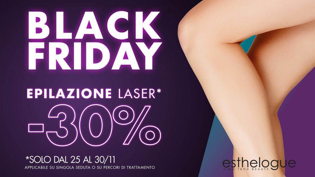 Offerta epilazione laser per il Black Friday